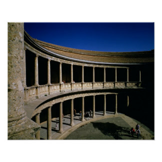 The Circular Courtyard of the Palace of Charles Poster