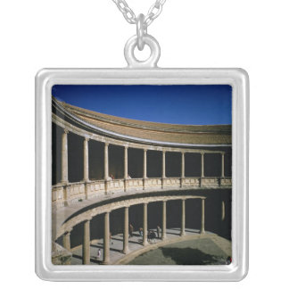 The Circular Courtyard of the Palace of Charles Silver Plated Necklace