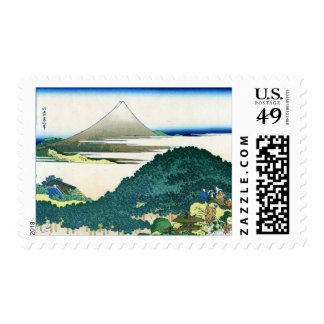 The Circular Pine Trees of Aoyama青山円座松 Postage Stamp