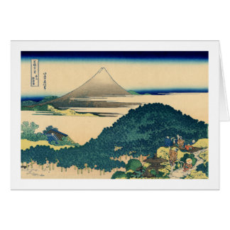 The Circular Pine Trees of Aoyama Stationery Note Card