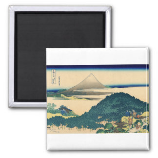 The Circular Pine Trees of Aoyama 2 Inch Square Magnet