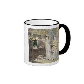 The Circulating Library pen and ink and w c and w Mugs