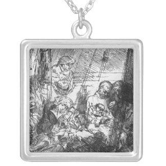 The Circumcision, 1654 Square Pendant Necklace