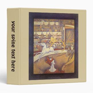 The Circus by Georges Seurat, Vintage Pointillism 3 Ring Binder