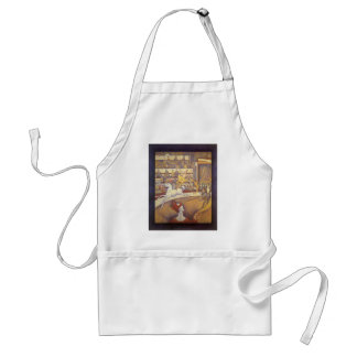 The Circus by Georges Seurat, Vintage Pointillism Aprons