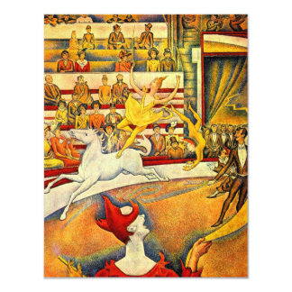 The Circus by Georges Seurat, Vintage Pointillism Card