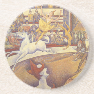 The Circus by Georges Seurat, Vintage Pointillism Coaster