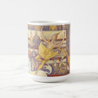 The Circus by Georges Seurat, Vintage Pointillism Coffee Mug