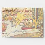 The Circus by Georges Seurat, Vintage Pointillism Envelope
