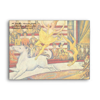 The Circus by Georges Seurat, Vintage Pointillism Envelope