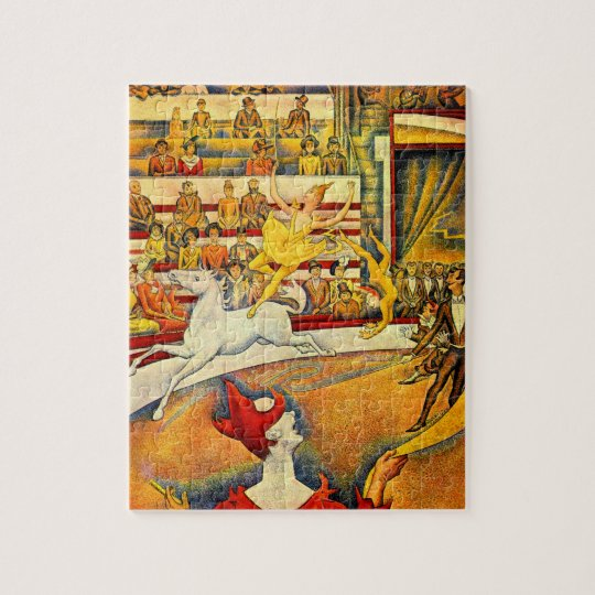 The Circus by Georges Seurat, Vintage Pointillism Jigsaw Puzzle