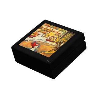 The Circus by Georges Seurat, Vintage Pointillism Keepsake Box
