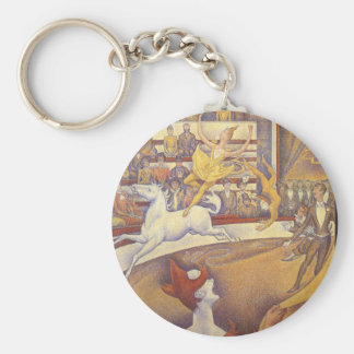 The Circus by Georges Seurat, Vintage Pointillism Keychain