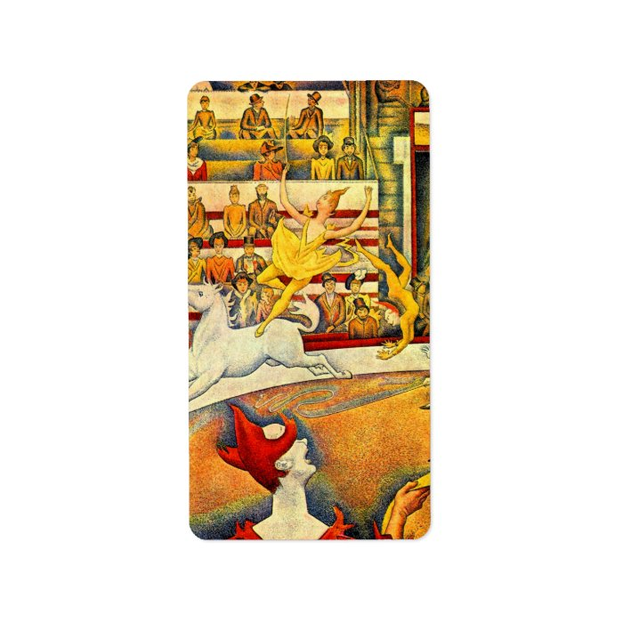 The Circus by Georges Seurat, Vintage Pointillism Label
