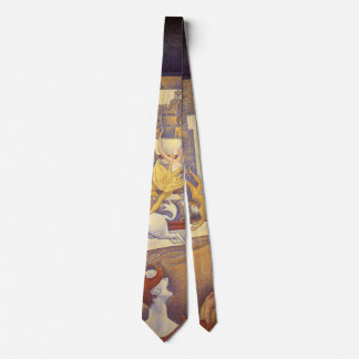The Circus by Georges Seurat, Vintage Pointillism Neck Tie