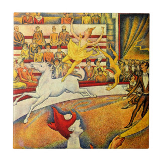 The Circus by Georges Seurat, Vintage Pointillism Tile