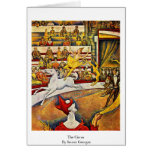 The Circus By Seurat Georges Card
