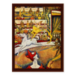 The Circus By Seurat Georges Postcard