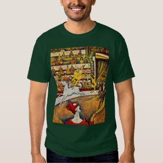 The Circus By Seurat Georges Tshirt