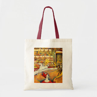 The Circus by Seurat, Vintage Pointillism Fine Art Tote Bags