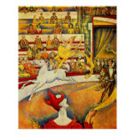 The Circus by Seurat, Vintage Pointillism Fine Art Posters