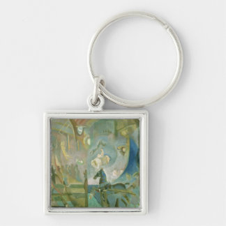 The Circus, c.1910 Silver-Colored Square Keychain
