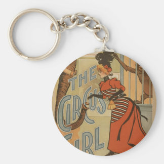The Circus Girl, 'A.H.Canby' Vintage Theater Basic Round Button Keychain