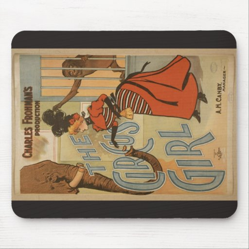 The Circus Girl, 'A.H.Canby' Vintage Theater Mousepads