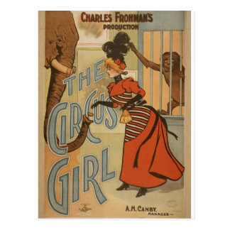 The Circus Girl, 'A.H.Canby' Vintage Theater Postcard
