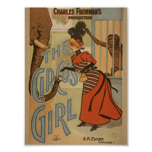 The Circus Girl, 'A.H.Canby' Vintage Theater Poster