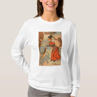 The Circus Girl - Feeding Elephant and Monkey T-Shirt