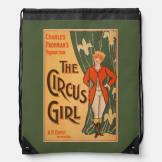 The Circus Girl Theatrical Poster #1 Drawstring Bag