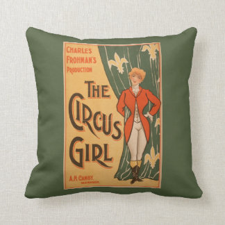 The Circus Girl Theatrical Poster #1 Throw Pillow