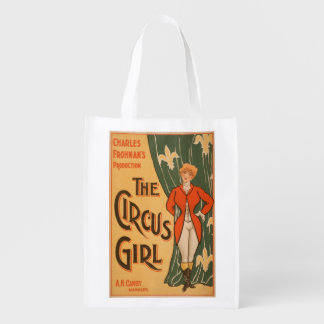The Circus Girl Theatrical Poster 1 Grocery Bags