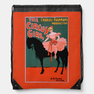 The Circus Girl - Woman on Horse Theatrical Drawstring Bag