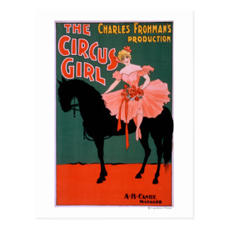 The Circus Girl - Woman on Horse Theatrical Post Card