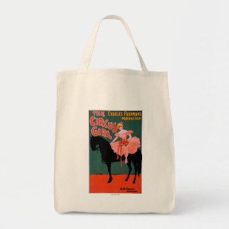 The Circus Girl - Woman on Horse Theatrical Tote Bag