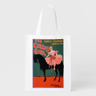 The Circus Girl - Woman on Horse Theatrical Reusable Grocery Bags