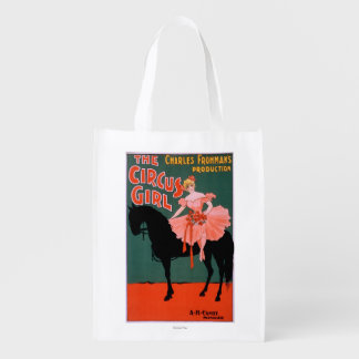 The Circus Girl - Woman on Horse Theatrical Grocery Bag
