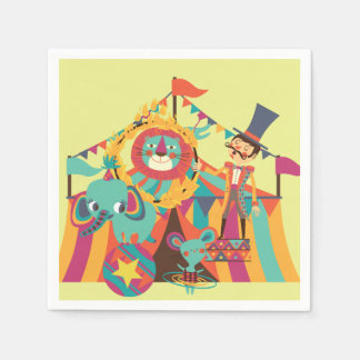 The Circus is in Town Birthday Paper Napkins