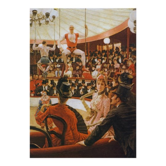 The Circus Lover, by James Tissot Poster