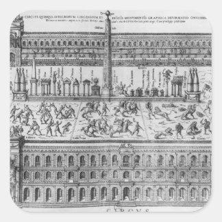 The Circus Maximus in Rome c 1600 Square Stickers