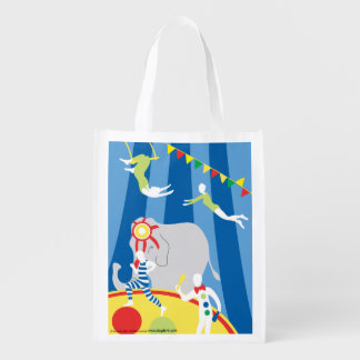 The Circus Ring Grocery Bag