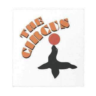 The Circus Seal Memo Notepad