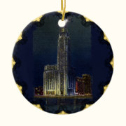 The Citadel At Night Ornament