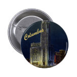 The Citadel At Night Vintage Button