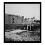 The Citadel in Charleston, SC 1865 Posters