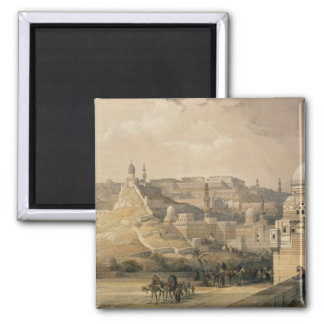 "The Citadel of Cairo, from ""Egypt and Nubia"" 2 Inch Square Magnet"