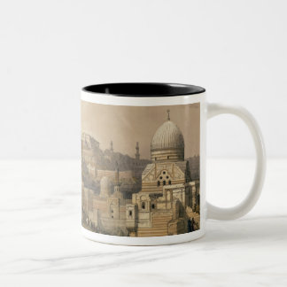"""The Citadel of Cairo, from """"Egypt and Nubia"""" Two-Tone Coffee Mug"""