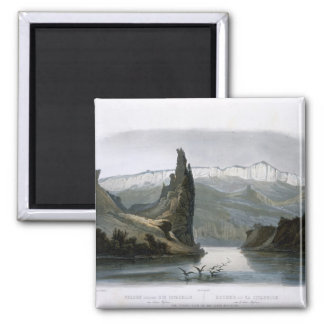 The Citadel Rock on the Upper Missouri, plate 18 f 2 Inch Square Magnet